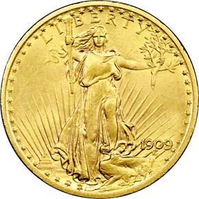 1909/8 $20 MS obverse