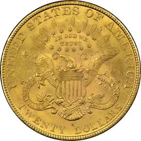1893 S $20 MS reverse