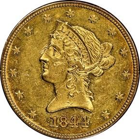 1844 $10 MS obverse