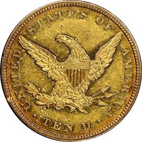 1844 $10 MS reverse