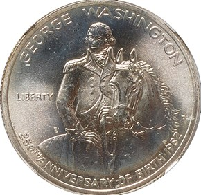 1982 D GEORGE WASHINGTON 50C MS obverse