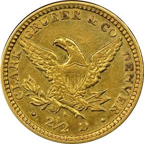 1861 CLARK, GRUBER & CO. $2.5 MS reverse