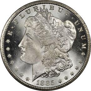 1885 CC S$1 MS obverse