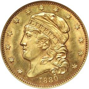 1830 $5 MS obverse