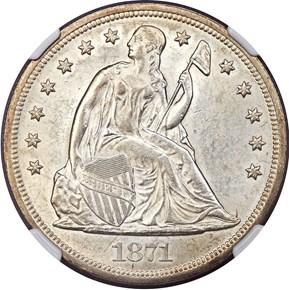1871 $1 MS obverse