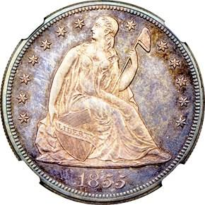 1855 $1 PF obverse