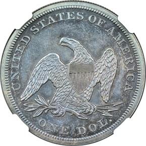 1855 S$1 PF reverse