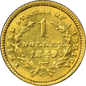 1849 C CLOSED WREATH G$1 MS reverse