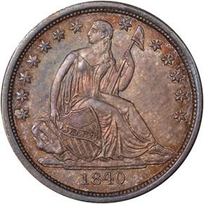 1840 NO DRAPERY 10C MS obverse
