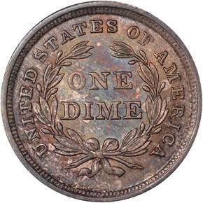 1840 NO DRAPERY 10C MS reverse