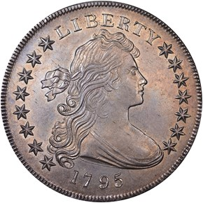 1795 DRAPED BUST S$1 MS obverse