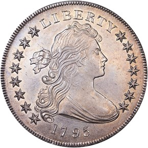 1795 DRAPED BUST $1 MS obverse