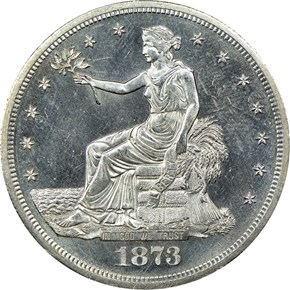 1873 S T$1 MS obverse