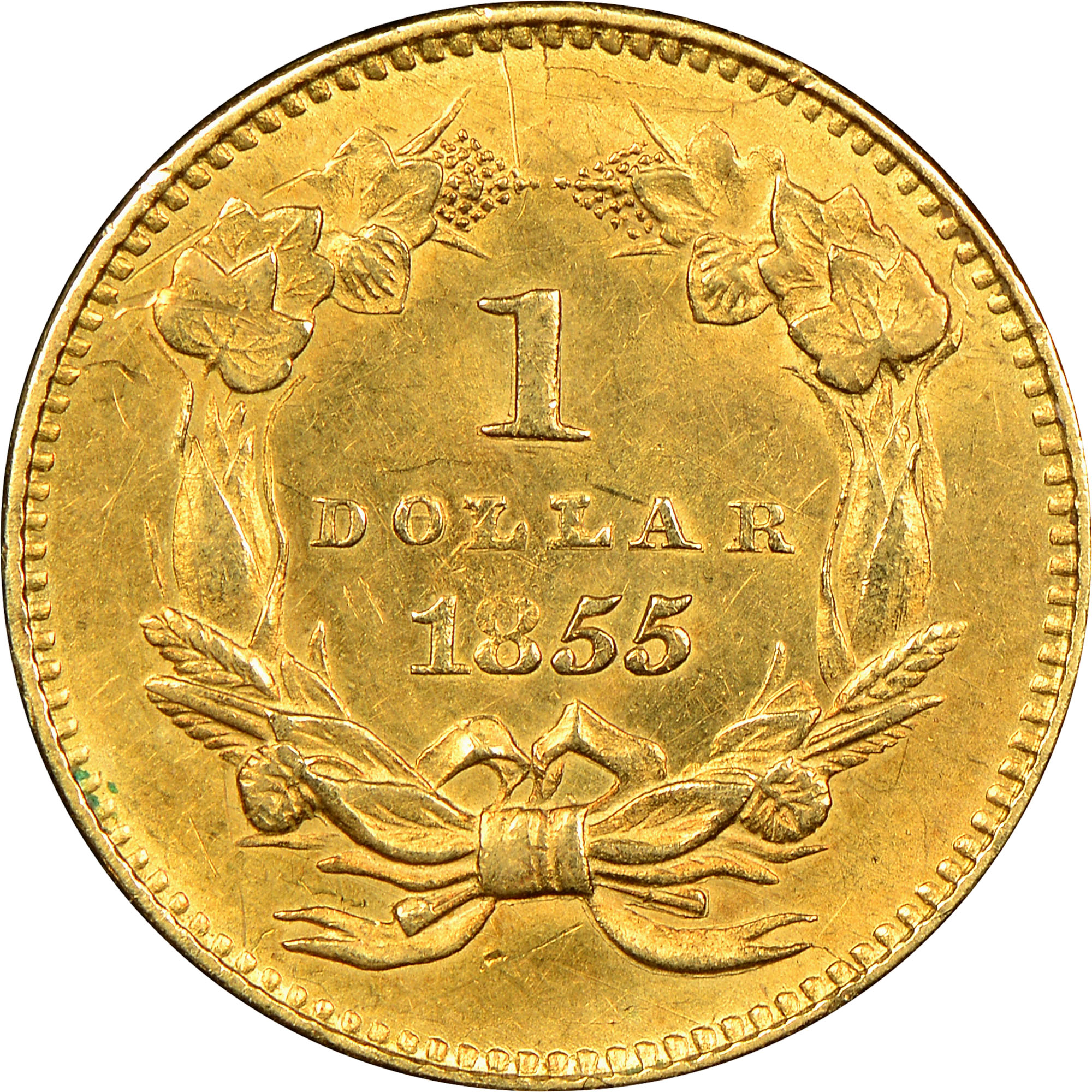1855 G 1 Ms Gold Dollars Ngc