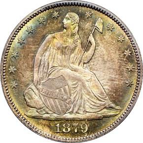 1879 50C MS obverse