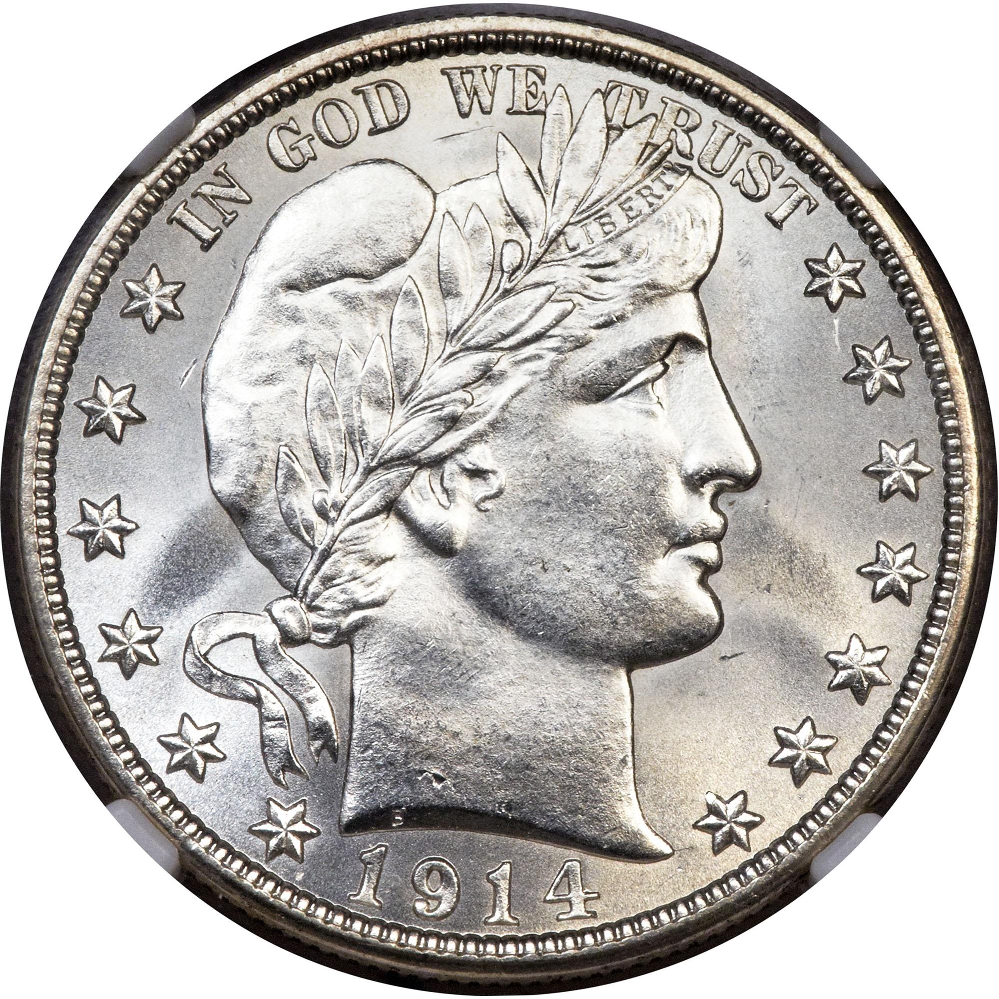 1914  Barber Half Dollar Hoard