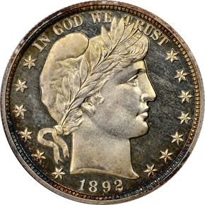 1892 50C PF obverse