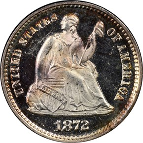 1872 H10C PF obverse
