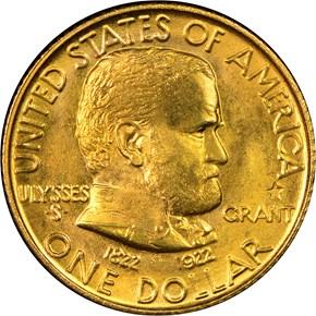 1922 STAR GRANT G$1 MS obverse
