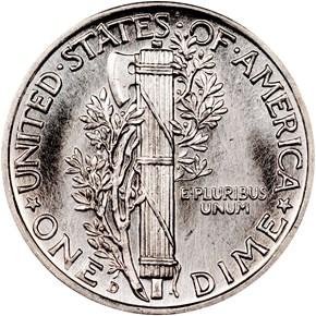 1940 D 10C MS reverse