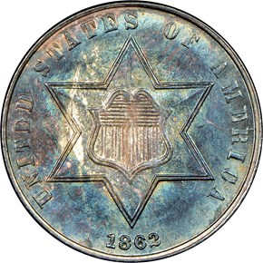 1862 3CS MS obverse