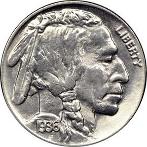 1936 5C MS obverse