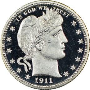 1911 25C PF obverse
