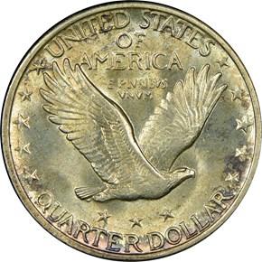 1929 D 25C MS reverse