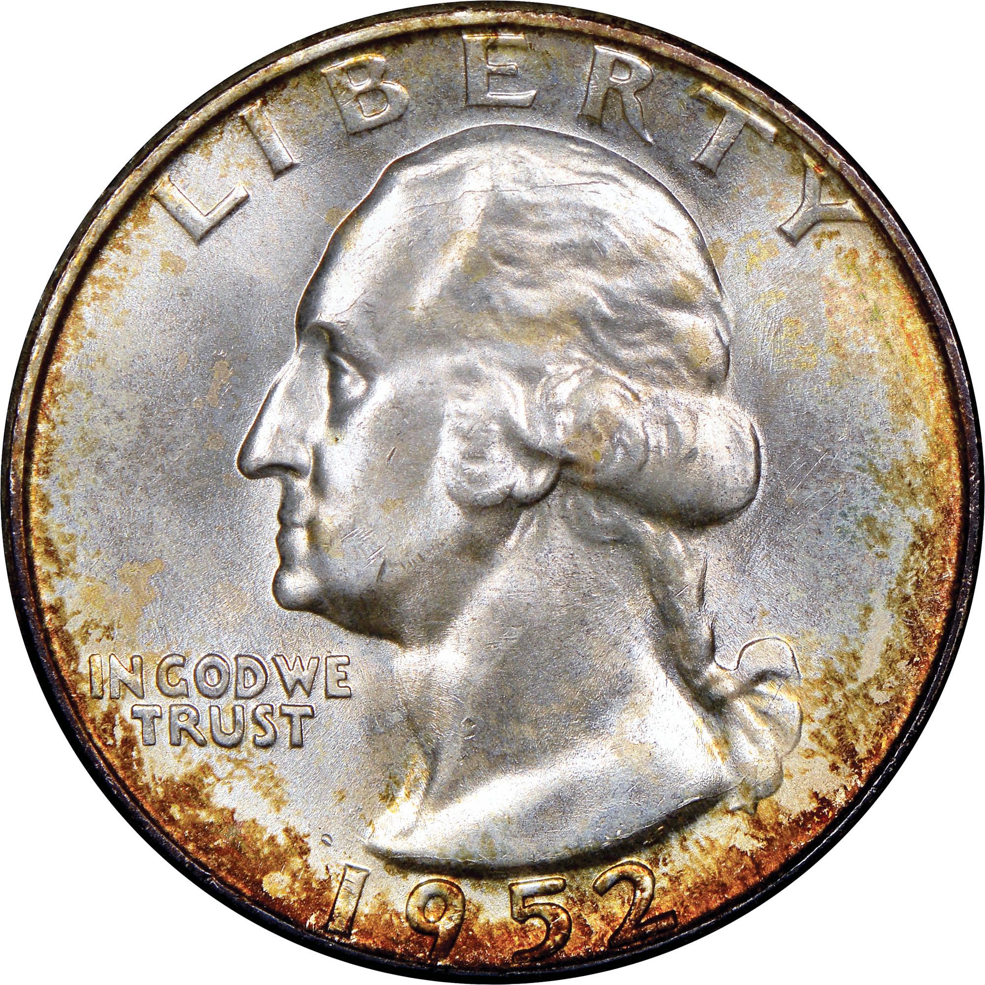1952 D Washington Silver Quarter NGC MS65