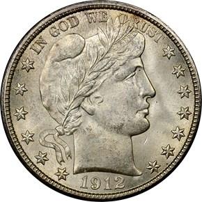 1912 D 50C MS obverse