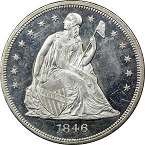 1846 $1 PF obverse