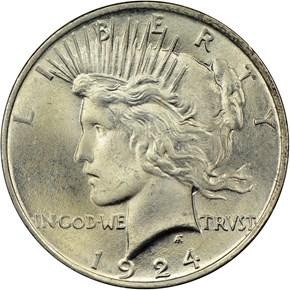 1924 $1 MS obverse