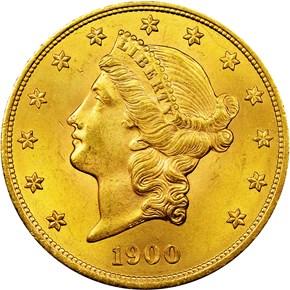 1900 $20 MS obverse