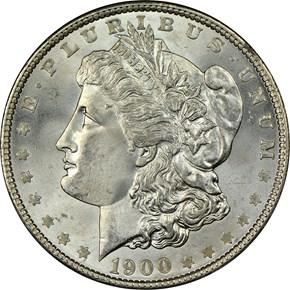 1900 S$1 MS obverse