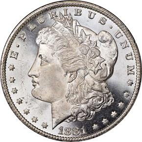 1881 CC $1 MS obverse