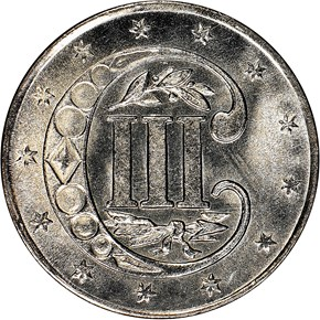 1857 3CS MS obverse