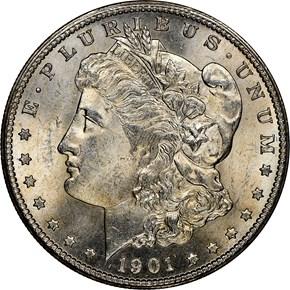 1901 S $1 MS obverse