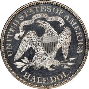 1872 50C PF reverse