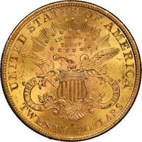1891 S $20 MS reverse