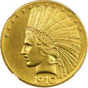 1910 $10 PF obverse