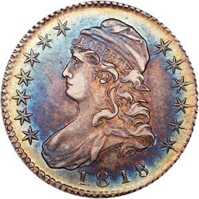 1818/7 50C MS obverse