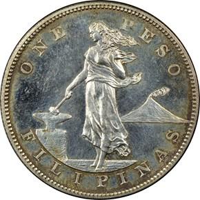 1904 USA-PHIL PESO PF obverse
