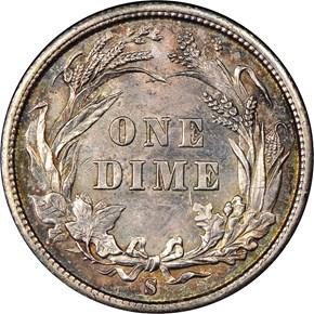 1898 S 10C MS reverse