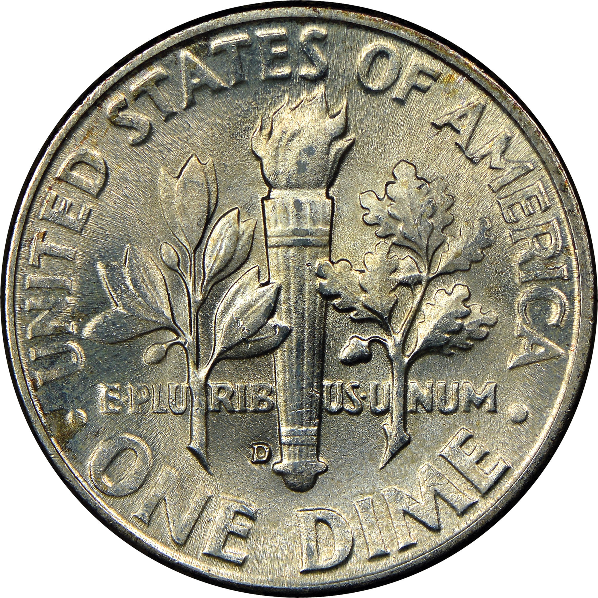 1949 D 10c Roosevelt Silver Dime US Coin Average Circulated