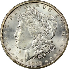 1902 S S$1 MS obverse