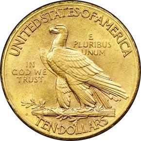 1911 D $10 MS reverse