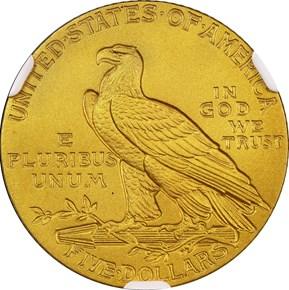 1915 $5 PF reverse