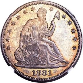 1881 50C MS obverse
