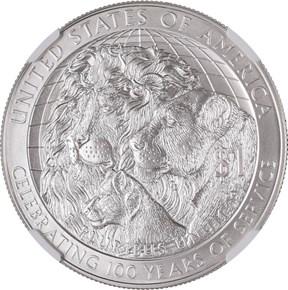 2017 P LIONS CLUB CENTENNIAL S$1 MS reverse