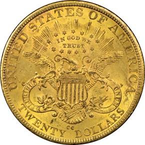 1883 CC $20 MS reverse